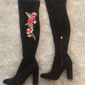 Steve Madden heeled over the knee boots